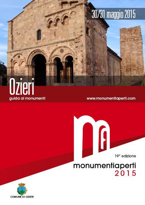 Monumenti Aperti 2015 farà tappa ad Ozieri il 30 e 31 maggio prossimi