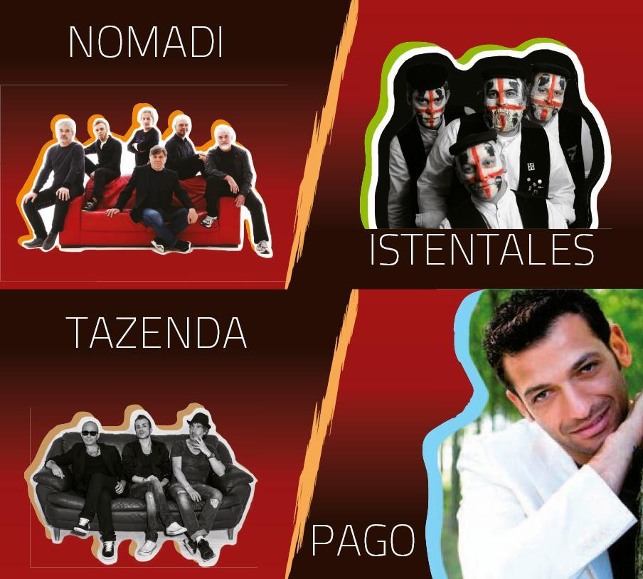 Voci di Maggio 2015 i cantanti I Nomadi gli Istentales I Tazenda e Pago