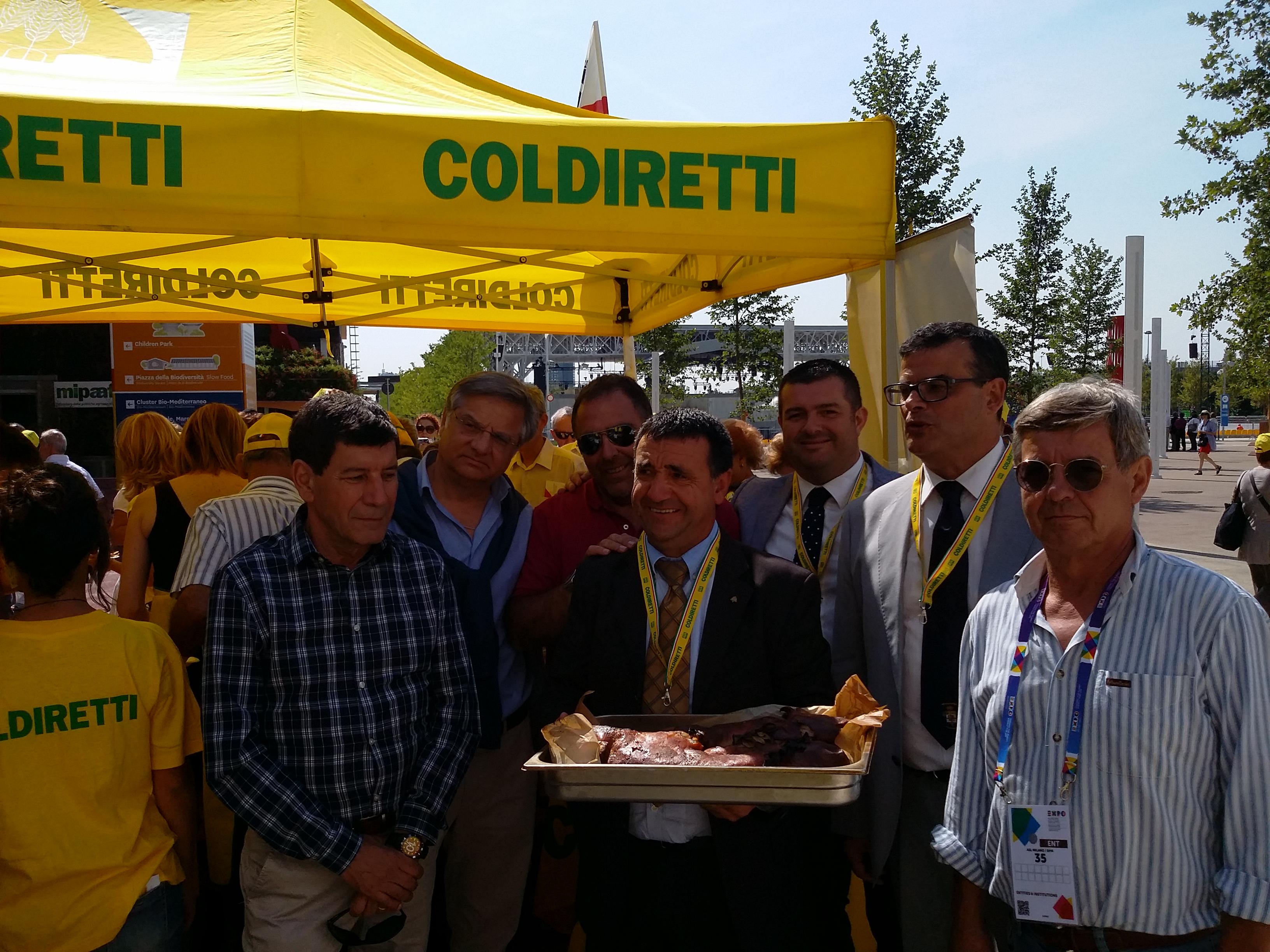 Il maiale termizzato presente all' Expo