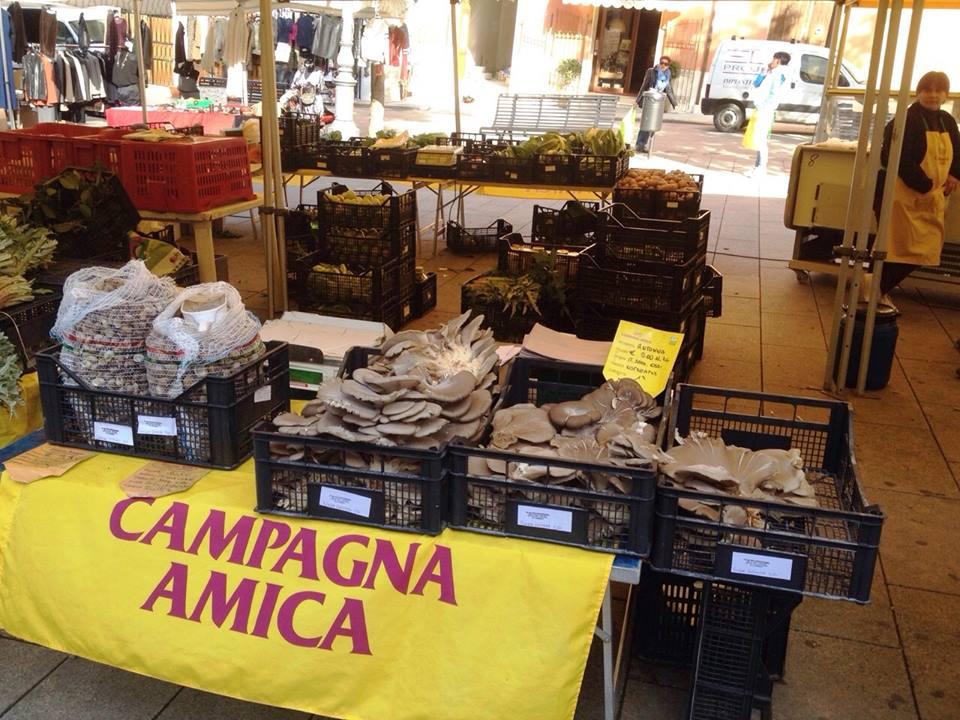 """Coldiretti 24 giugno 2015: """"il cibo invenduto dei mercati di Campagna Amica alle mense dei poveri"""". Prodotti Tipici Sardi Campagna Amica Sassari Piazza Tola"""