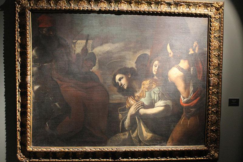 A Sassari Mostra su Caravaggio  e i caravaggeschi tra le opere Martirio di San Gavino.