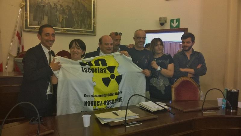 Sassari consiglio comunale giunta Sannna No scorie 4 Giungno 2015.