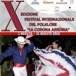 X Edizione Festival Internazionale del Folklore Sa Corona Arrubia dal 1 al 11 agosto 2015.