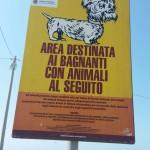 Nella spiaggia di Torre Grande a Oristano una nuova area dedicata ai cani per l'estate 2015.