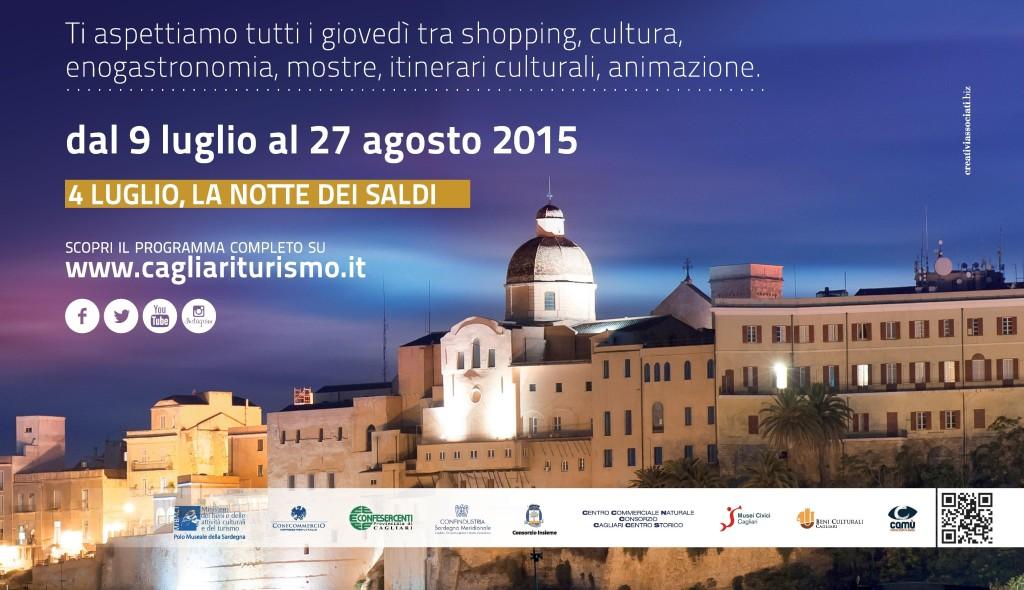 A Cagliari torna l'appuntamento con Notti Colorate 2015 tutti i giovedì fino a mezzanotte.