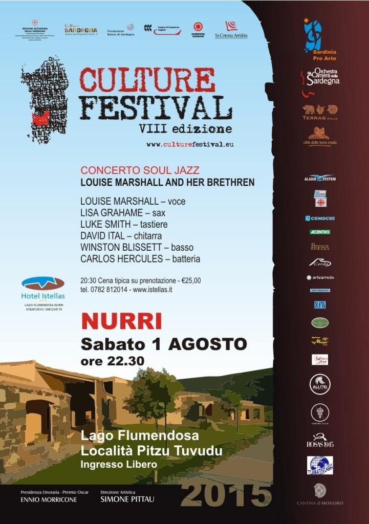Culture Festival 2015 a Nurri con Marshall and her Brother 1 agosto nella splendida cornice del lago Flumendosa.