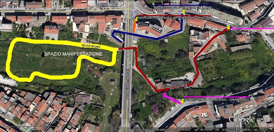 La ciogghitta d'oro 6 agosto 2015 ore 18 Fontana di Rosello accessi pedonali all'area