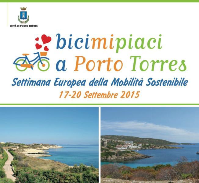 Bicimipiaci a Porto Torres dal 17 al 20 settembre 2015 tutti gli Eventi in città e all'Asinara in occasione della Settimana Europea della Mobilità sostenibile.