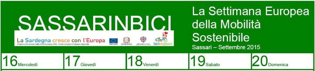Sassari-Settembre 2015. Sassarinbici dal 16 al 20 settembre 2015 piazza d'Italia diventerà un luogo speciale per gli appassionati della bicicletta in occasione della Settimana europea della mobilità sostenibile.
