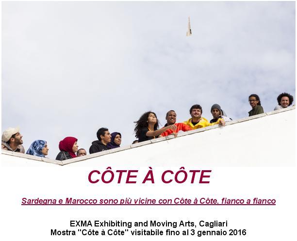 """Mostra """"Côte à Côte"""" visitabile all'EXMA di Cagliari fino al 3 gennaio 2016."""