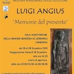 """Mostra personale dello scultore Luigi Angius """"Memorie del presente"""" a Carbonia dal 18 al 28 dicembre 2015."""
