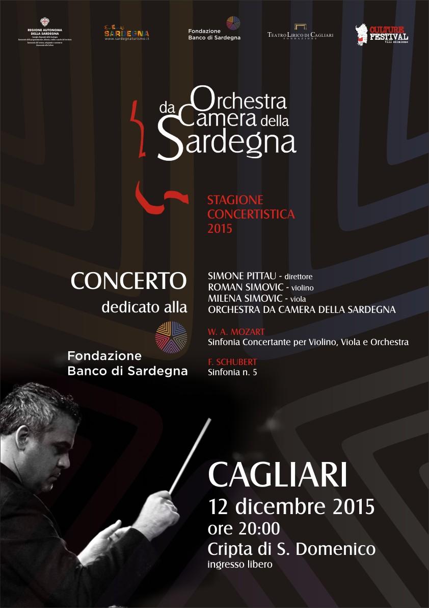 Orchestra da camera stagione concertistica 2015 - 12 dicembre