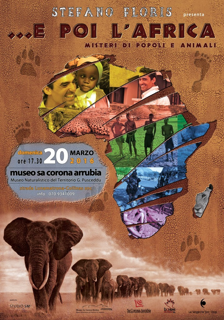 """""""Tornerò in Italia per mostrarvi la """"mia"""" Africa. Attraverso ben 400 diapositive e inserti video, sgranerete gli occhi, sorriderete, riderete a crepapelle ma piangerete anche di fronte alle incredibili storie di popoli e animali d'Africa … """" dice Stefano Floris guida safari."""