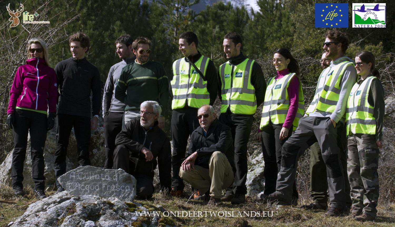 Secondo trasporto e rilascio in Corsica di cervi originari della Sardegna 15 marzo 2016 ecco lo staff.