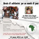 """Evento al Museo Naturalistico del Territorio """"G. Pusceddu"""" 13 marzo 2016: Atobius de paxi- serata di solidarietà per un mondo di pace."""