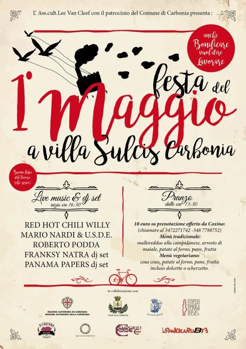 1 maggio 2016 Carbonia locandina concerto
