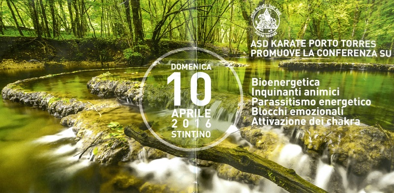 A Stintino si svolgerà domenica 10 aprile 2016 una conferenza sulla bionergetica e la meditazione.