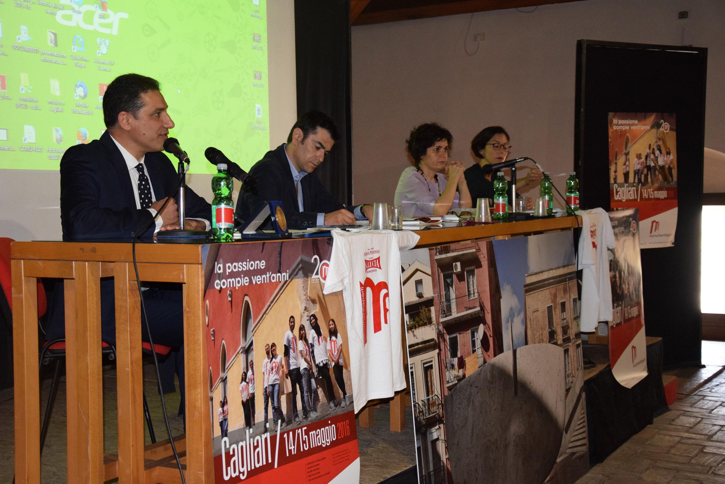 Cagliari Monumenti Aperti 2016 foto conferenza stampa. Cagliari Monumenti Aperti 2016 compie vent'anni. Un traguardo importante che verrà festeggiato il 14 e il 15 maggio con un ricco programma.
