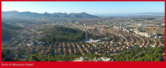 Panorama di Carbonia. Sabato 7 e  domenica 8 maggio Carbonia ospita Monumenti Aperti 2016.