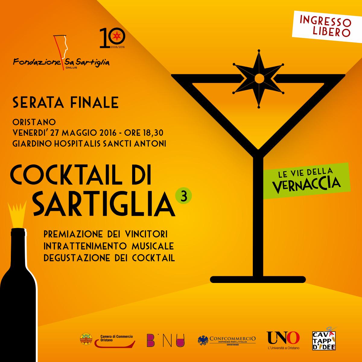 Cocktail di Sartiglia il 27 maggio 2016 le premiazioni all'Hospitalis Sancti Antoni di Oristano.