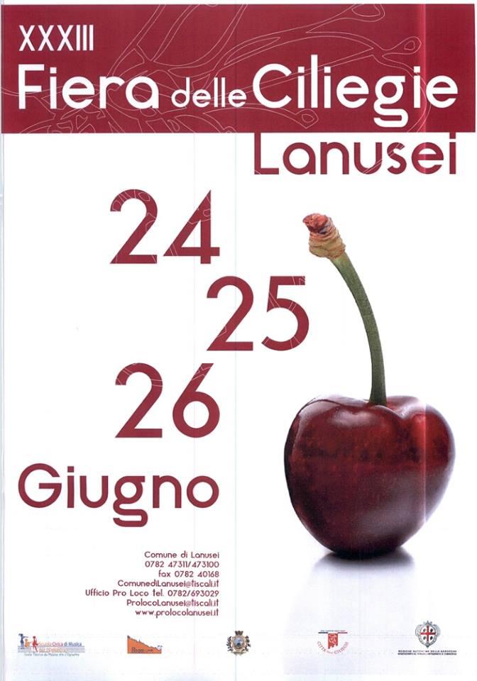 Sagra della Ciliegia a Lanusei Programma 24-25-26 Giugno 2016.