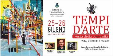 A Villamassargia Tempi D'Arte dal 25 al 26 giugno 2016 ospiti dell'Evento: Roberto Vecchioni, Michela Murgia e Giorgio Casu.