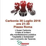 """Tazenda in concerto a Carbonia il 30 luglio 2016 alle 21.30 in Piazza Roma in occasione della manifestazione """"Ospitalità e Solidarietà""""."""