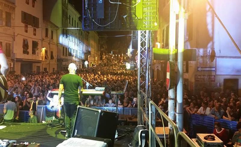 Concerto a Sassari in corso Vittorio Emanuele dei Tazenda 11 agosto 2016