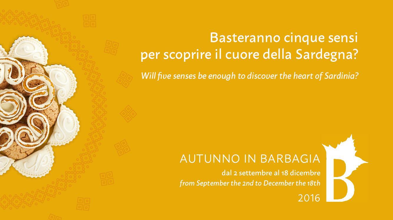 Sta per arrivare Autunno in Barbagia dal 2 settembre al 18 dicembre 2016