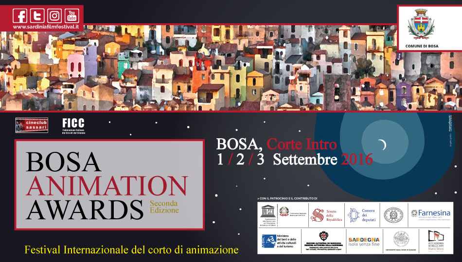 BAA Bosa Animation Awards 2016 dal 1 al 3 settembre