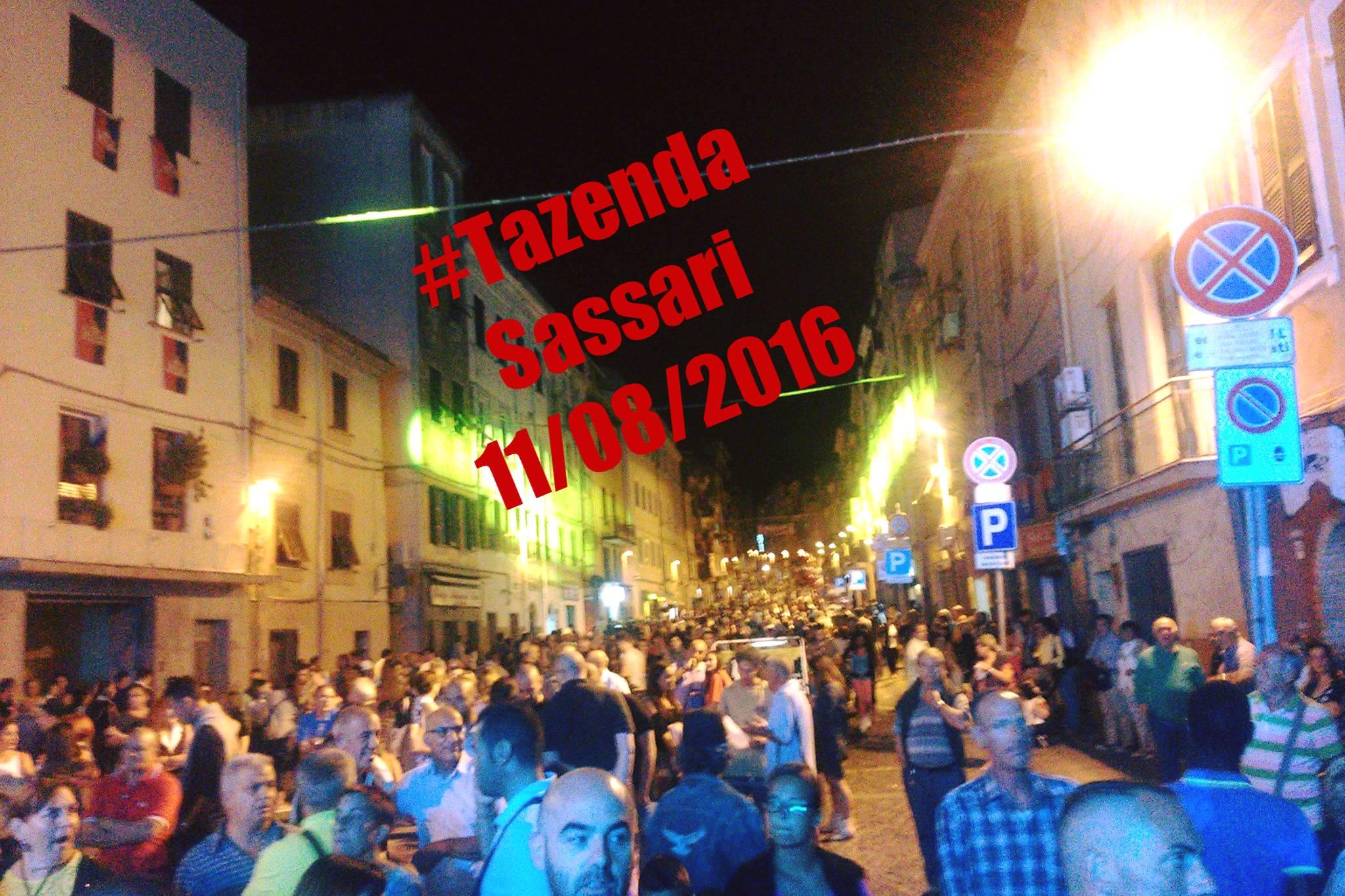 Tazenda Concerto a Sassari 8 agosto 2016 corso Vittorio Emanuele
