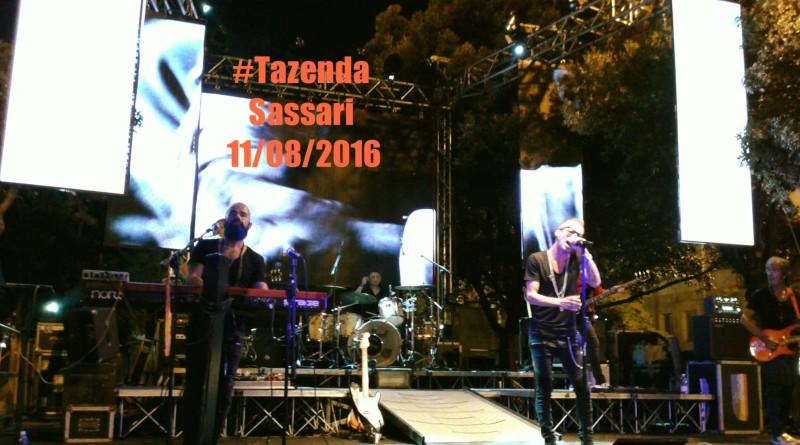 Tazenda concerto a Sassari 8 agosto 2016 Corso Vittorio Emanuele.