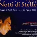 Notte di Stelle a Balai 23 agosto 2016 musica e spettacolo in ricordo di Andrea Parodi a presentare Carlo Massarini.