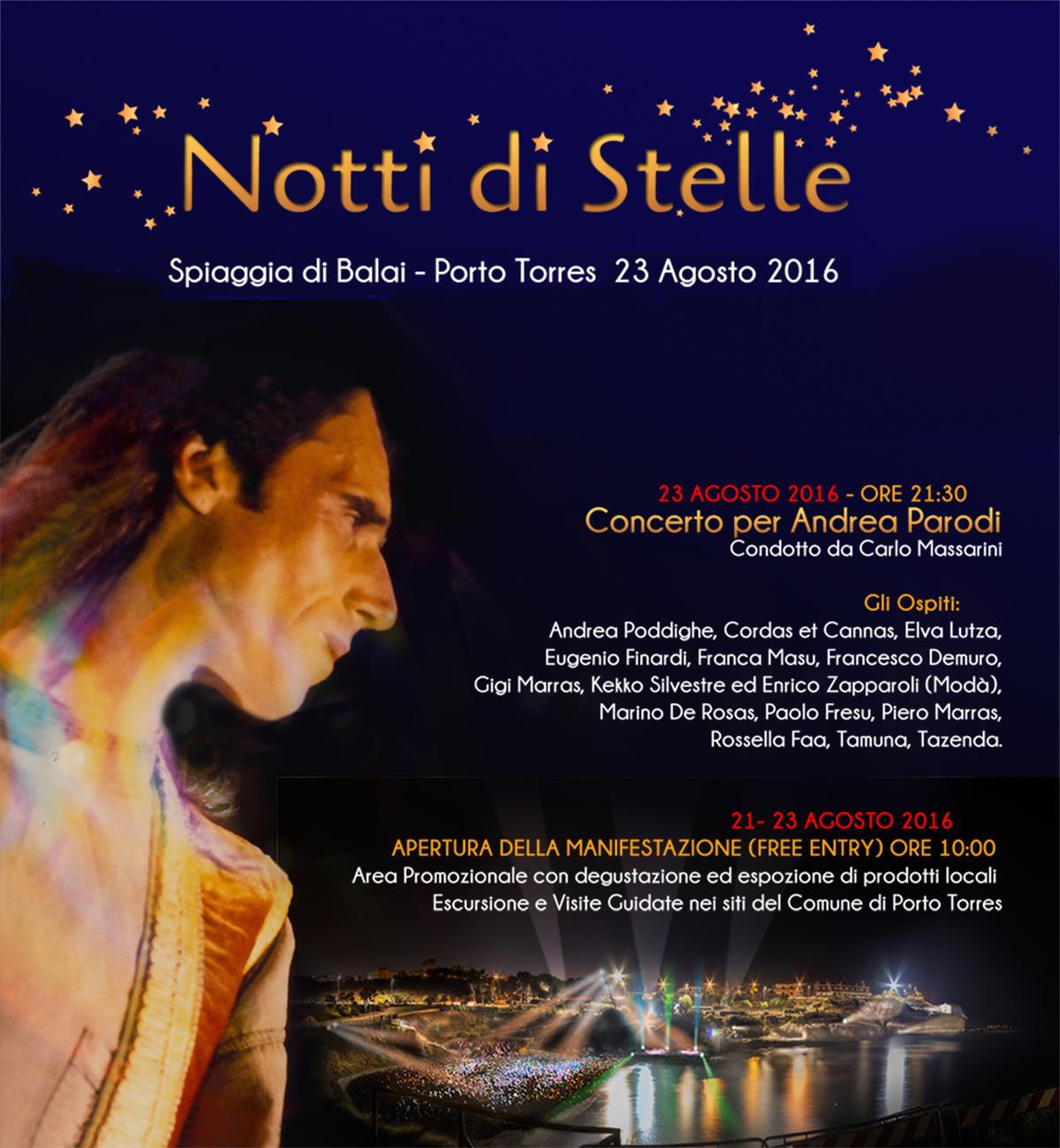 Concerto per Andrea Parodi a Porto Torres 2016