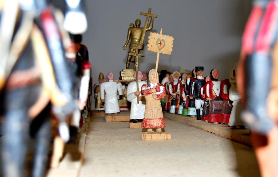 La Processione del Redentore di Briscas Brau è visitabile al Museo del Costume di Nuoro. Foto ISRE agosto 2016.