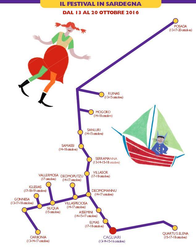 11° Festival Tuttestorie di Letteratura per Ragazzi. Programma Spettacoli a Tuttestorie in Sardegna dal 13 al 20 Ottobre 2016
