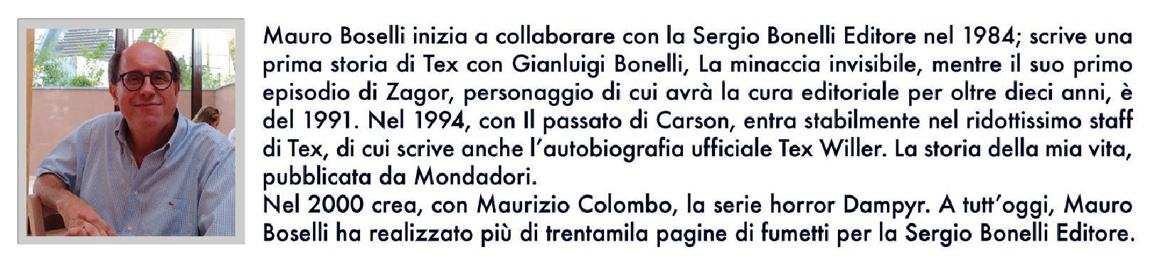 Mauro Boselli fumettista e sceneggiatore della Sergio Bonelli editore