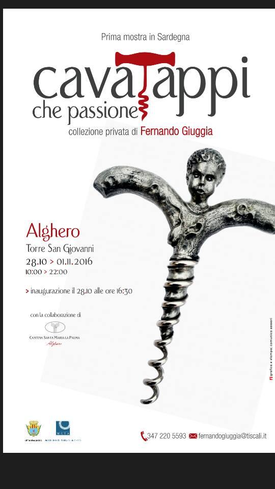 """Sarà inaugurata domani venerdì 28 Ottobre alla 16:30 ad Alghero la singolare mostra """"Cavatappi che passione""""."""