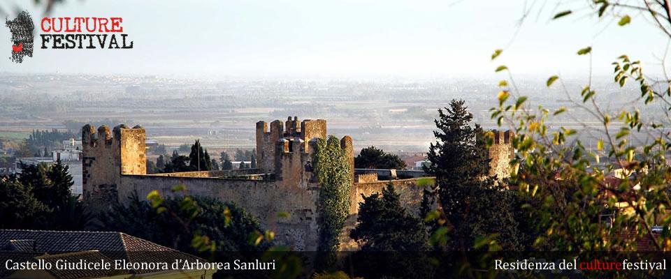 """Il """"culturefestival"""" ha la residenza presso il Castello Giudicale """"Eleonora D'Arborea"""" di Sanluri."""