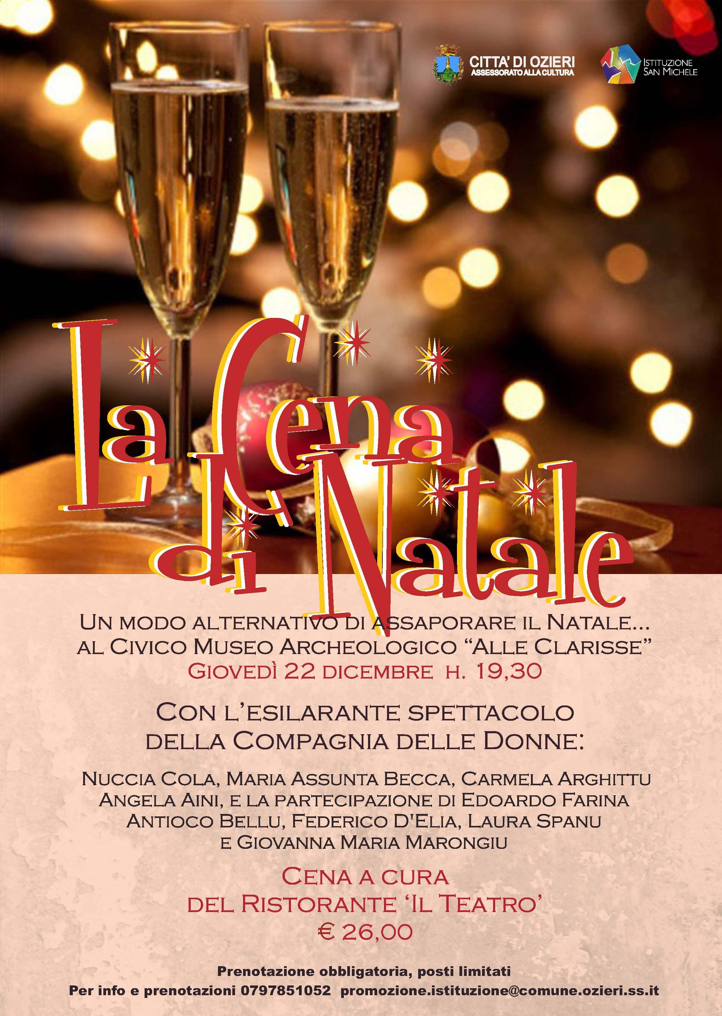 La cena di Natale a Ozieri il 22 dicembre 2016