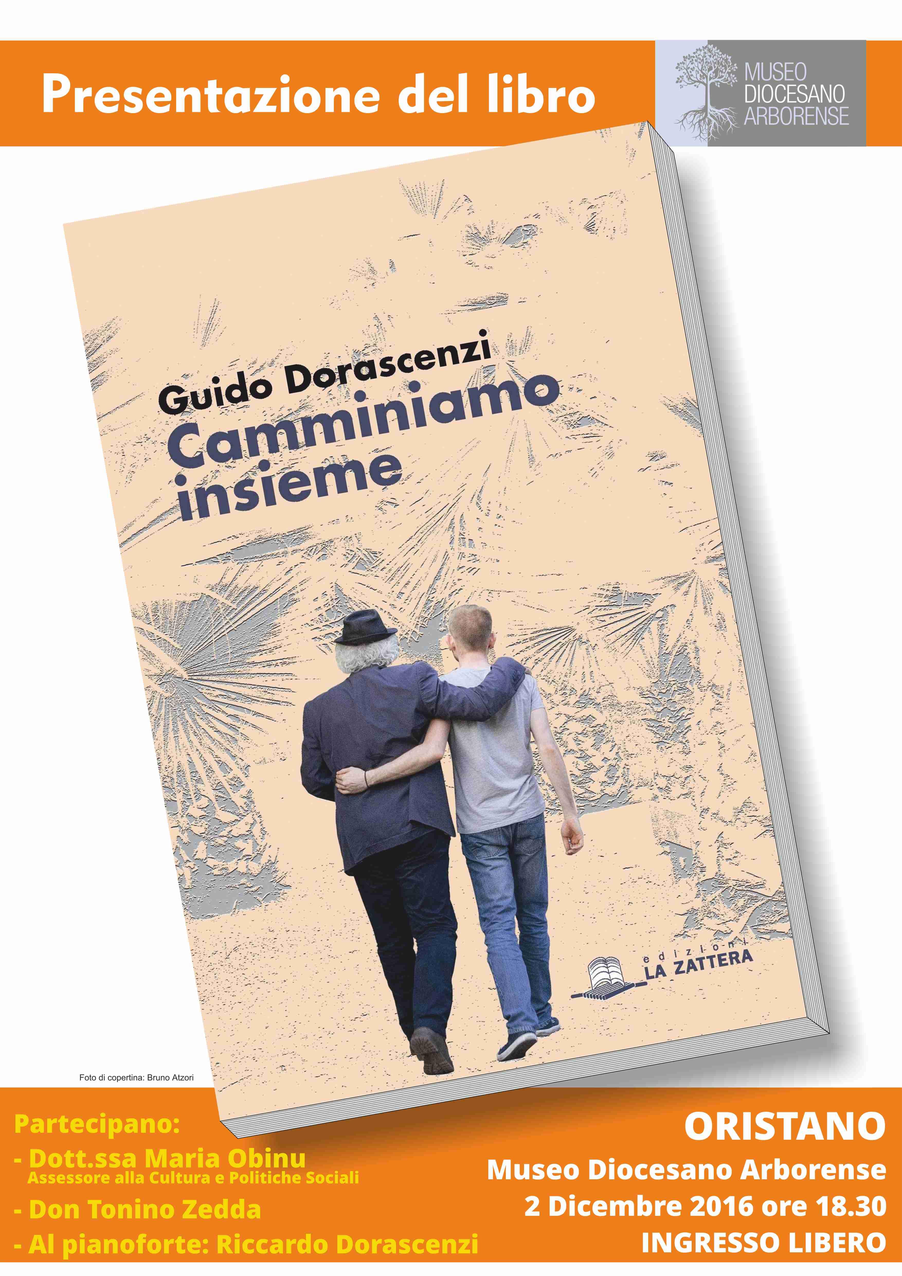 """Guido Dorascenzi presenta il suo libro """"Camminiamo insieme"""". Venerdì 2 dicembre 2016 al Museo Diocesano Arborense."""