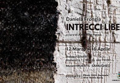 INTRECCI LIBERI le opere della Fiber Artist Daniela Frongia in Mostra è un omaggio all'antica produzione tessile isolana del MURATS di Samugheo e sarà Visitabile dal 12 Marzo al 16 Aprile 2017.