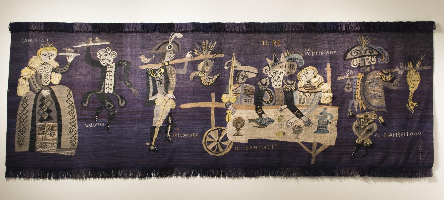 Emanuele Luzzati, Favola, 1954. ARTE E DESIGN NELLA PRODUZIONE DELLA MITA 1926 - 1976 è la prossima Mostra in programma al MURATS di Samugheo dal 30 aprile al 26 giugno 2017.