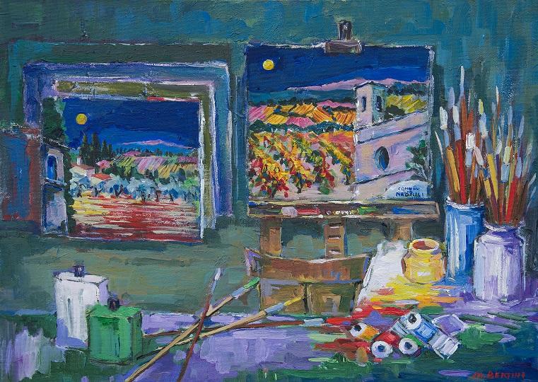 Mostra personale di pittura di Marcello Bertini sul paesaggio toscano e sard