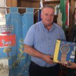Il sindaco Sean Wheeler visita le zone terremotate dell'Umbria.