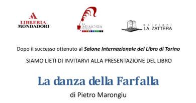 """Presentazione del libro """"La danza della Farfalla"""" di Pietro Marongiu presso l'Antiquarium Arborense di Oristano martedì 29 agosto ore 21.45."""
