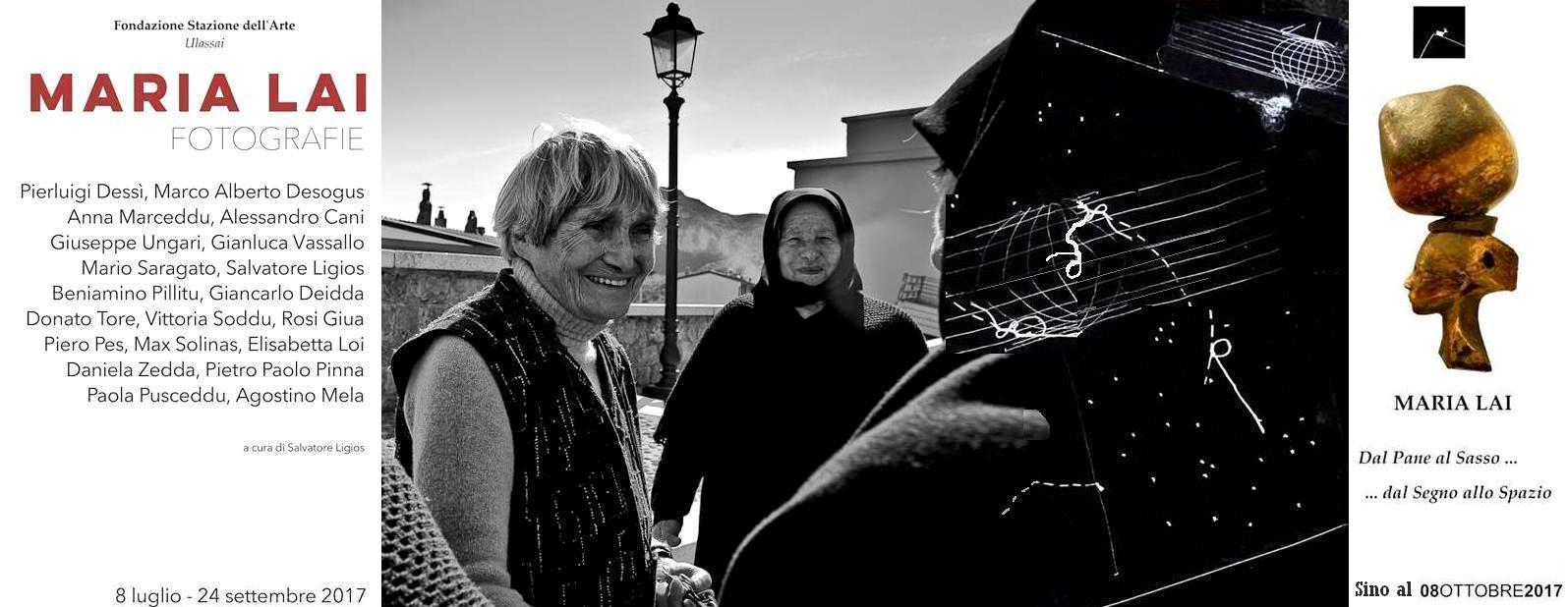 """La Stazione dell'Arte di Ulassai ospita la mostra fotografica """"Maria Lai. Fotografie. 20 fotografi raccontano""""Mostra visitabile a Ulassai presso Stazione dell'Arte fino al 24 settembre 2017"""