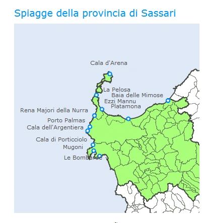 Spiagge della Provincia di Sassari