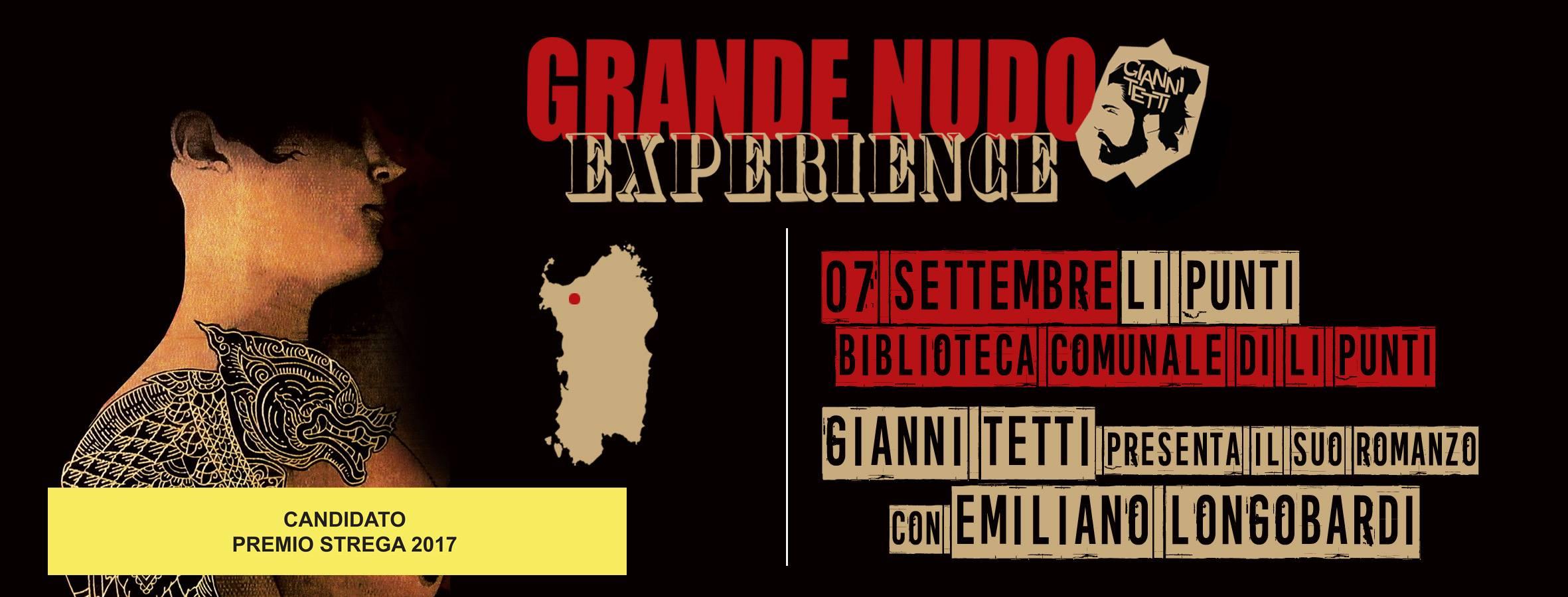 Presentazione del libro Grande Nudo di Gianni Tetti biblioteca comunale Li Punti Sassari 7 settembre 2017.