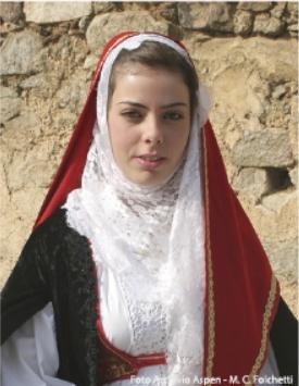 Austis Cortes Apertas Costume Tradizionale